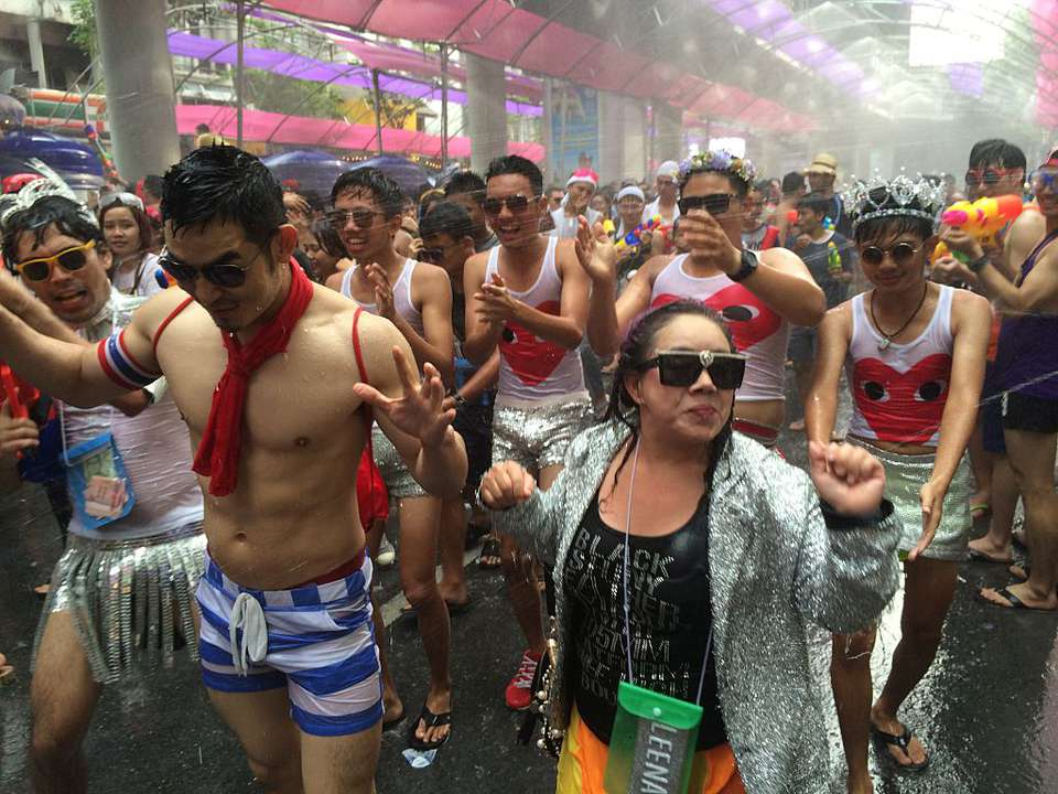 Songkran on Silom