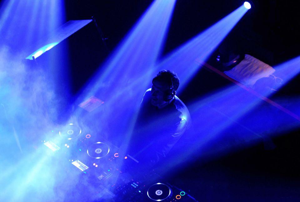 DJ performing at a Las Vegas show.