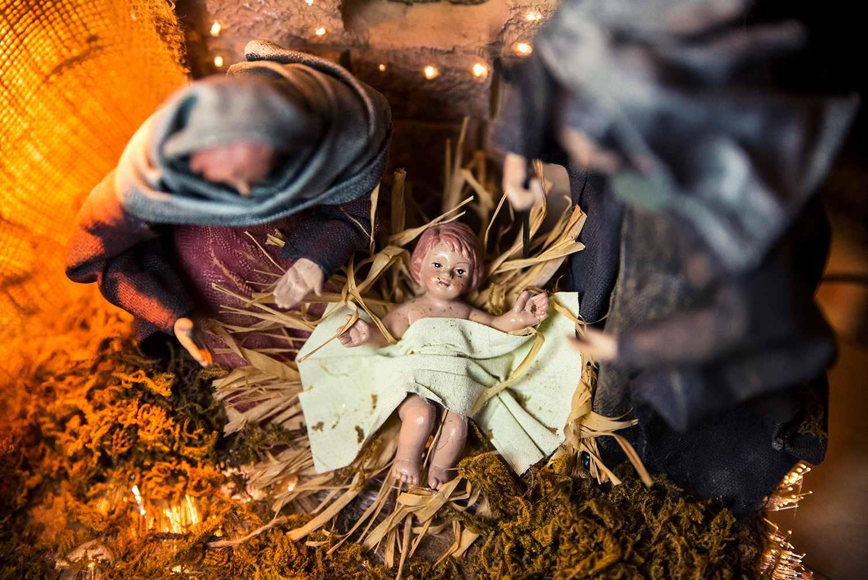 Jesus, Mary, and Joseph nativity scene
