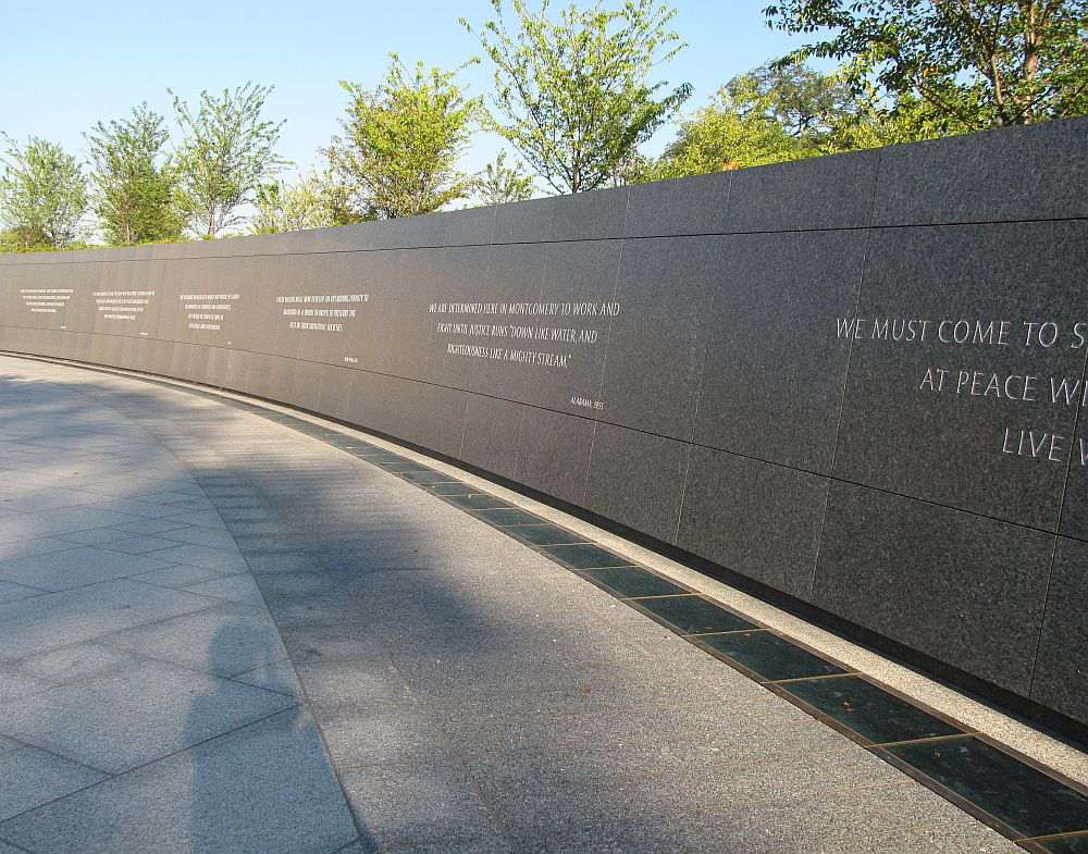 Martin Luther King Jr. Memorial tường