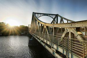 Glienicke Bridge, Havel, between Potsdam and Berlin, Brandenburg, Germany