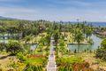 Panorama of the Taman Ujung Soekasada water palace on Bali, Indonesia