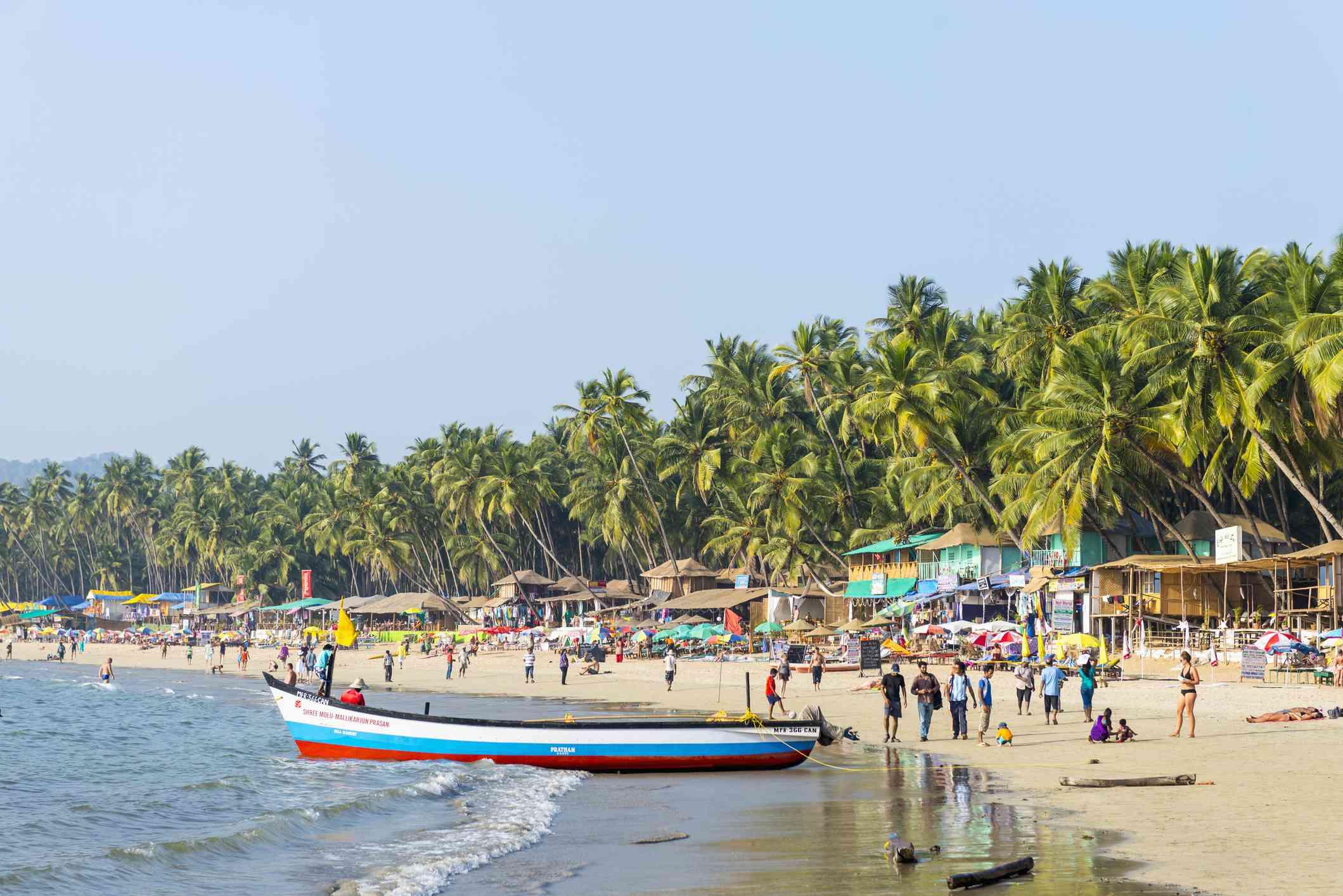Palolem Beach in Goa, India