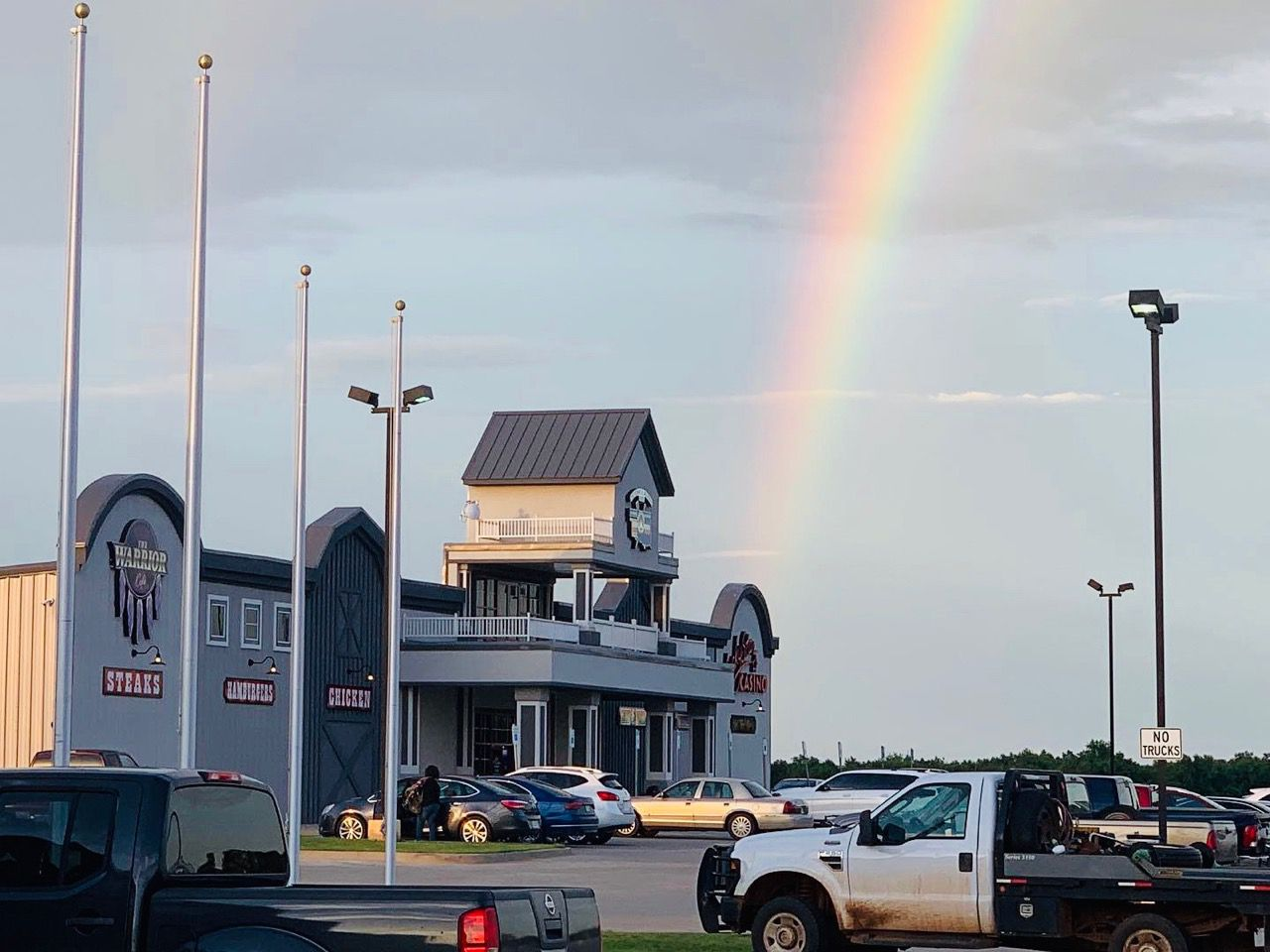 Rainbow over Lucky Star Casino El Reno, Oklahoma