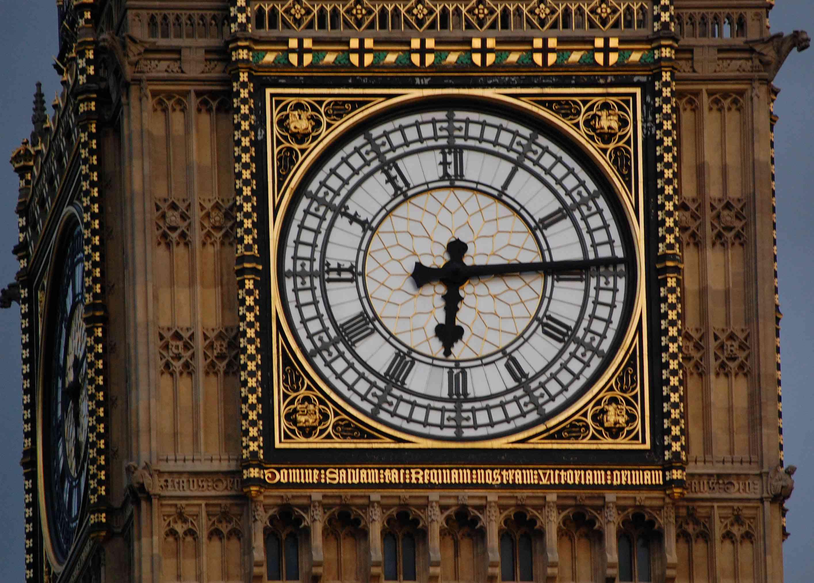 Close-up on the Big Ben, Symbol of London, United Kindom