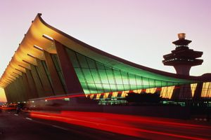 Dulles Airport at dusk