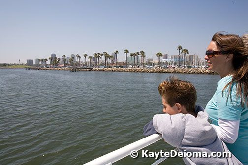 Cruising out from Rainbow Harbor on the Aquarium of the Pacific Whale Watching Tour