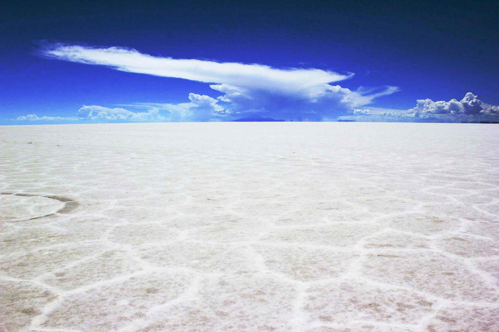 View of the Uyuni Salt flats