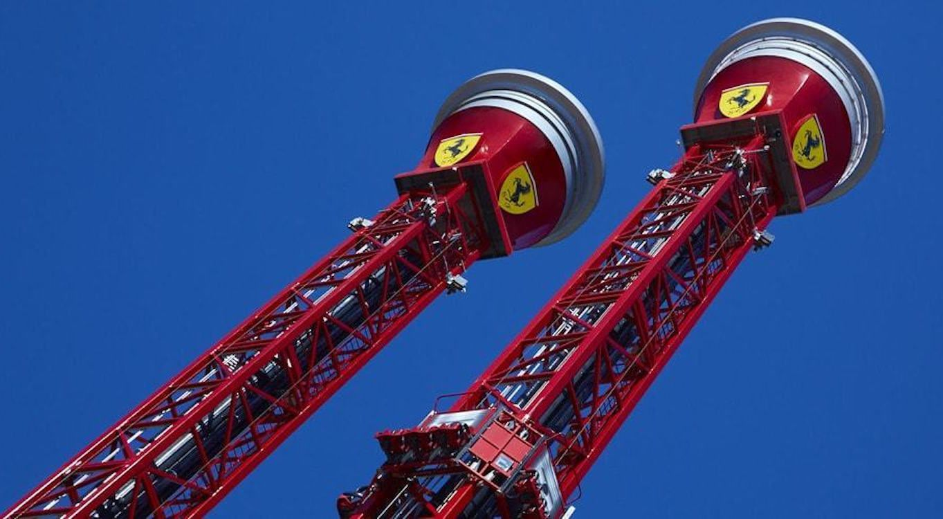 Thrill Towers at Ferrari Land