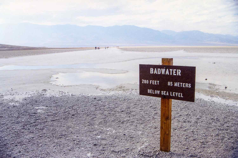 Badwater en el Valle de la Muerte