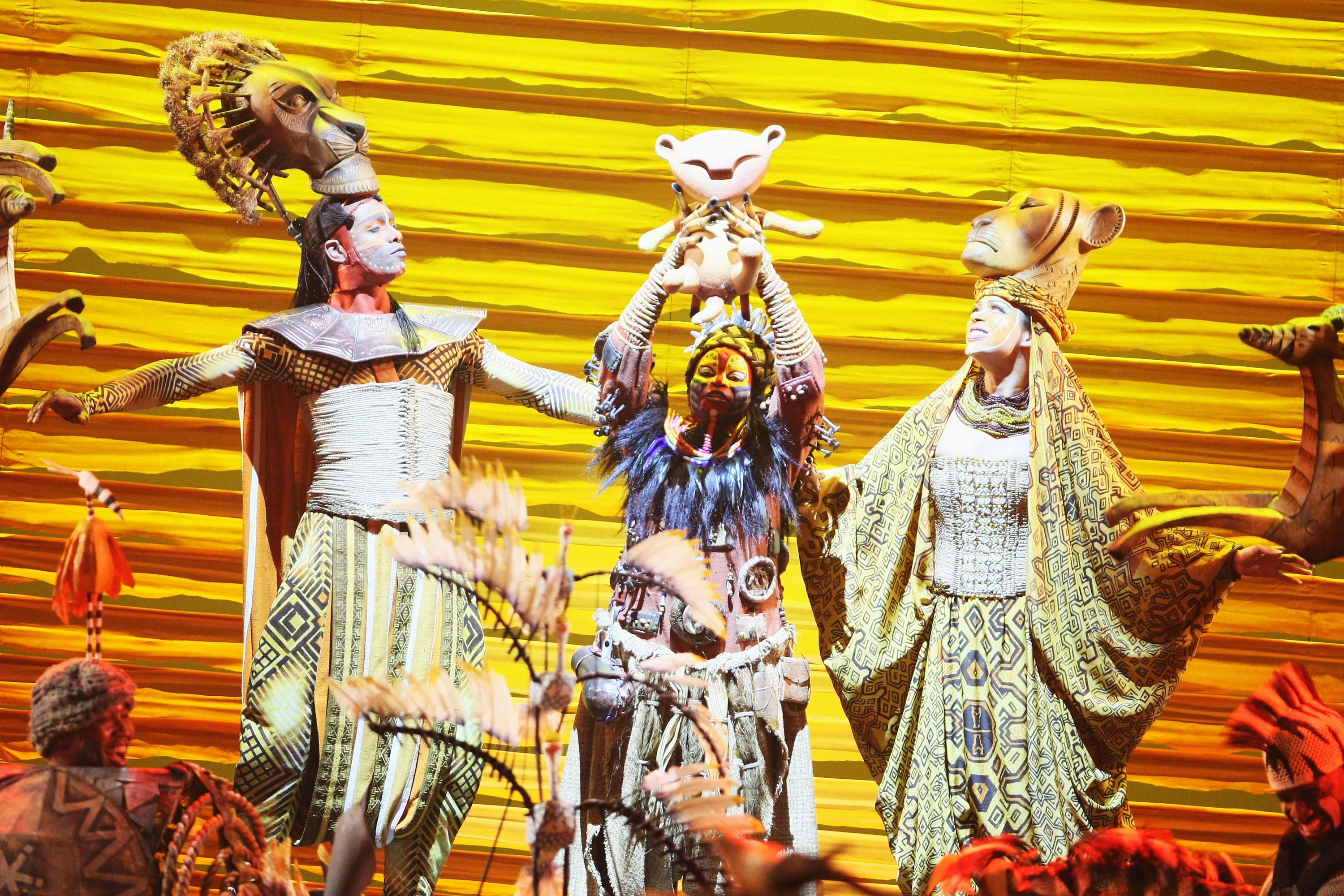 Performance of the Lion King on Broadway