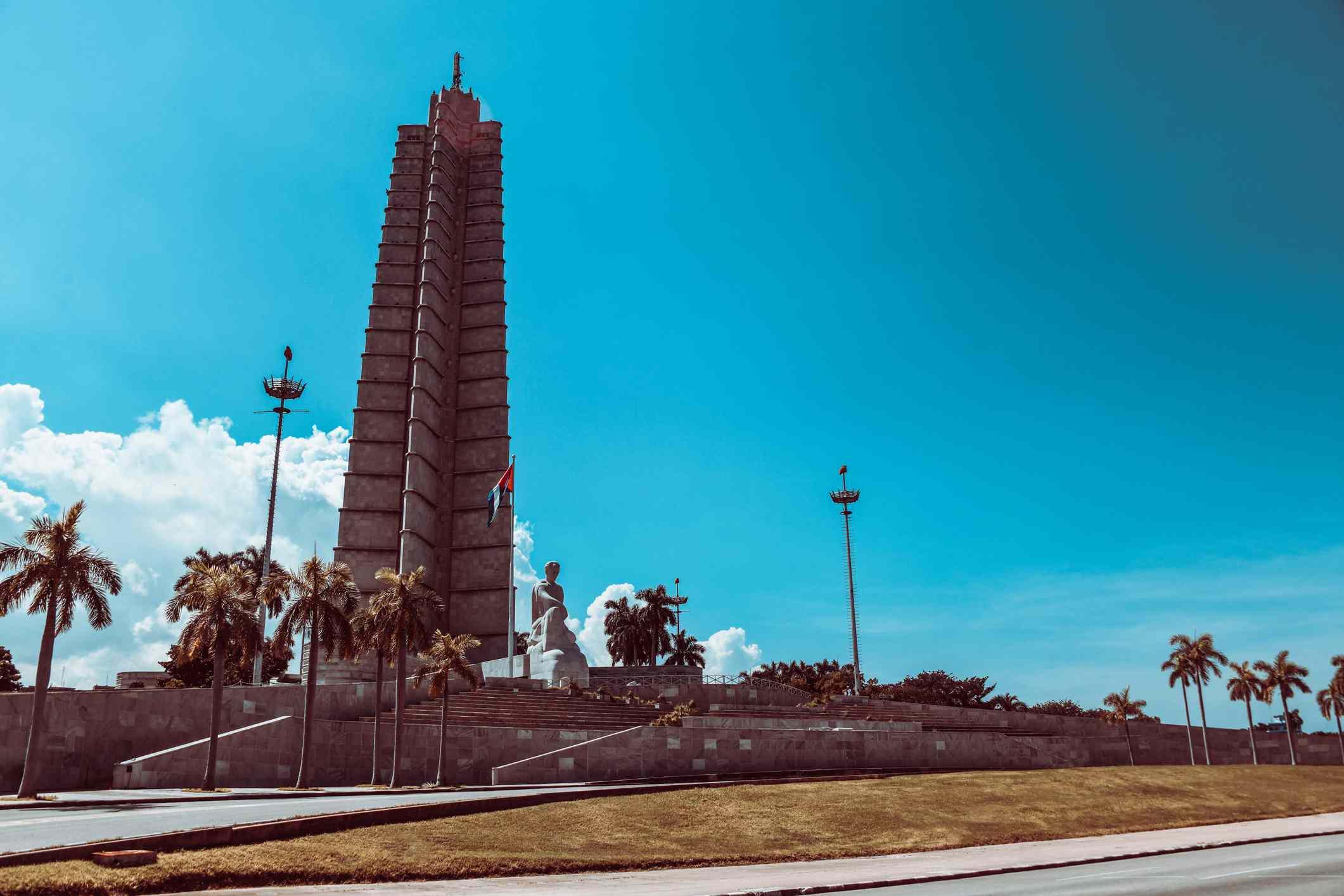 Low Angle View Of Jose Marti Memorial, Plaza De La Revolucion