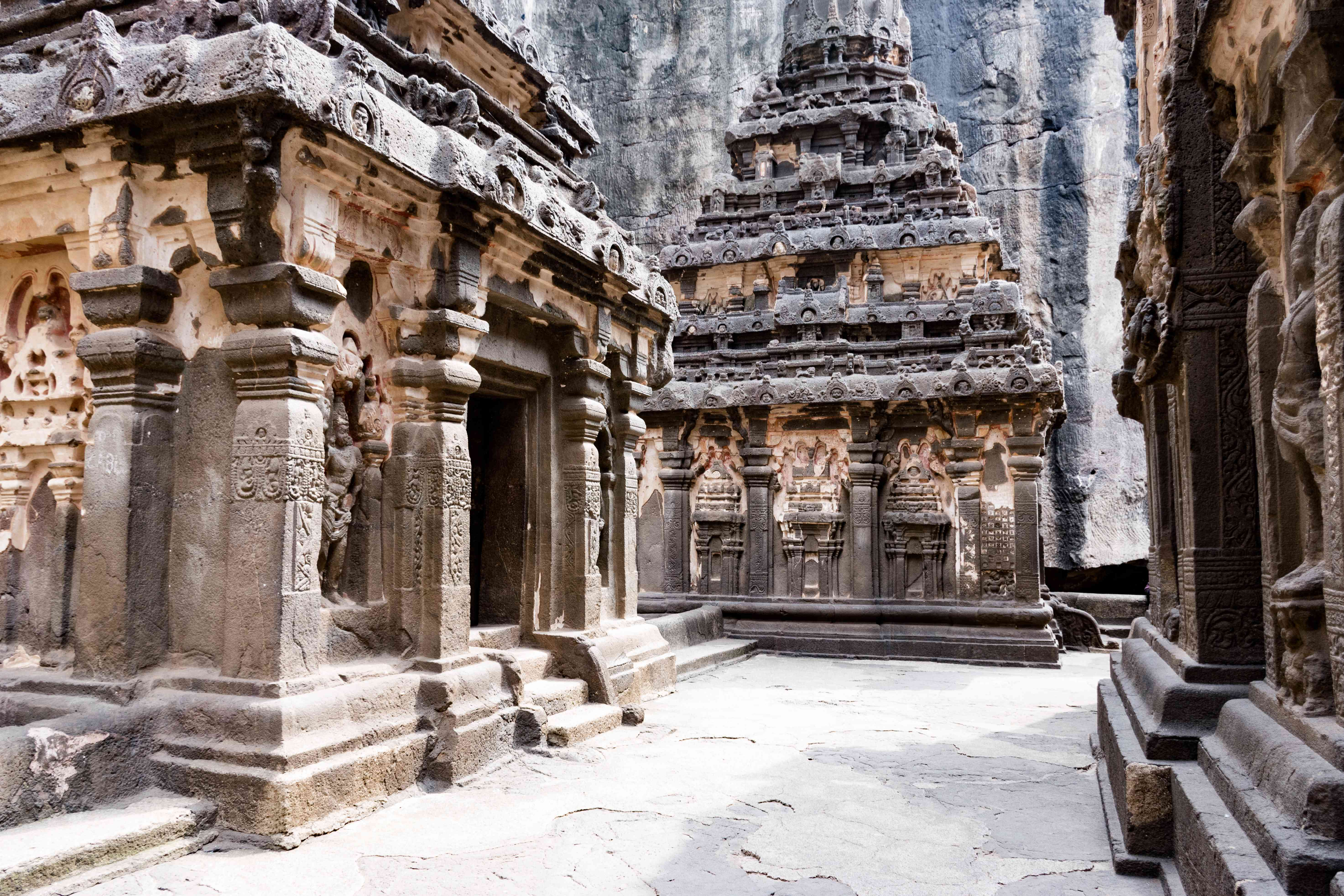 Temples inside the cave