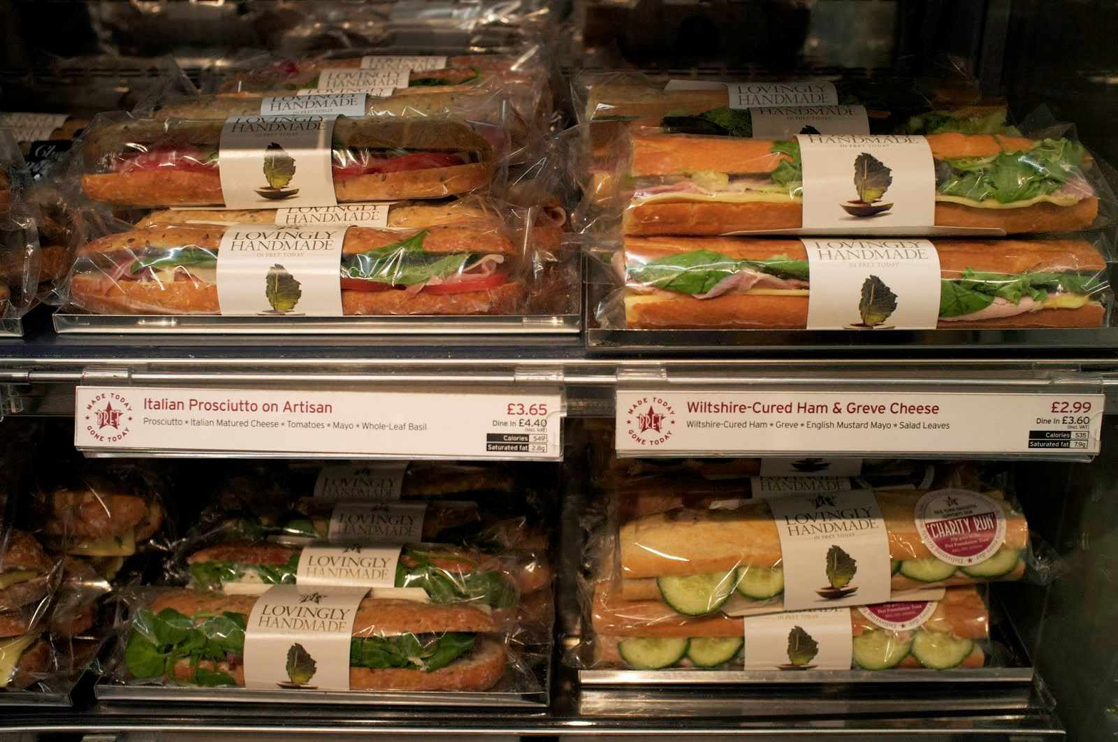 Prêt a Manger: wildly popular in the UK, it's a good choice for a quick bite before catching the Eurostar.