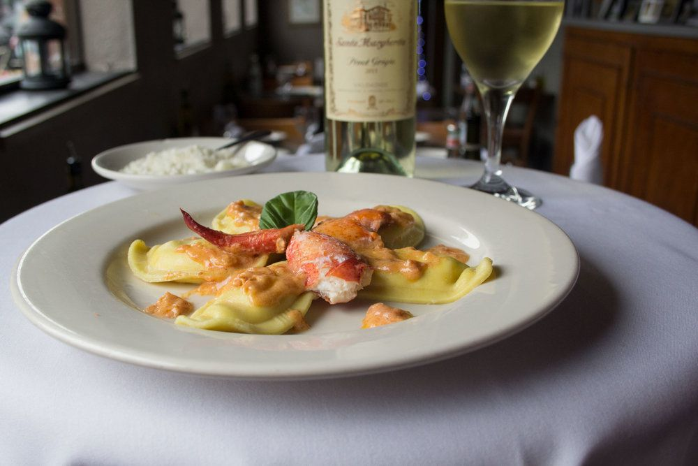 Lobster Ravioli from Mother Anna's Restaurant in Boston's North End