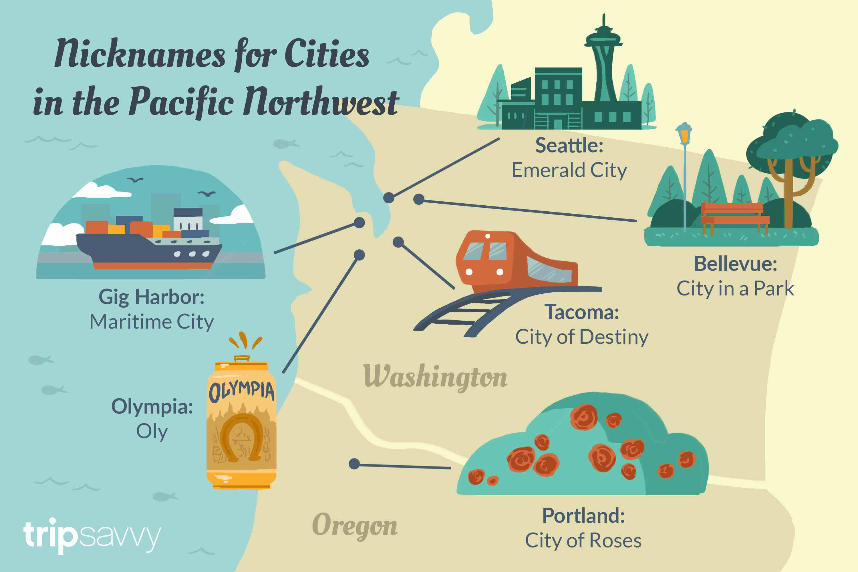 Apodos para ciudades en el noroeste del Pacífico