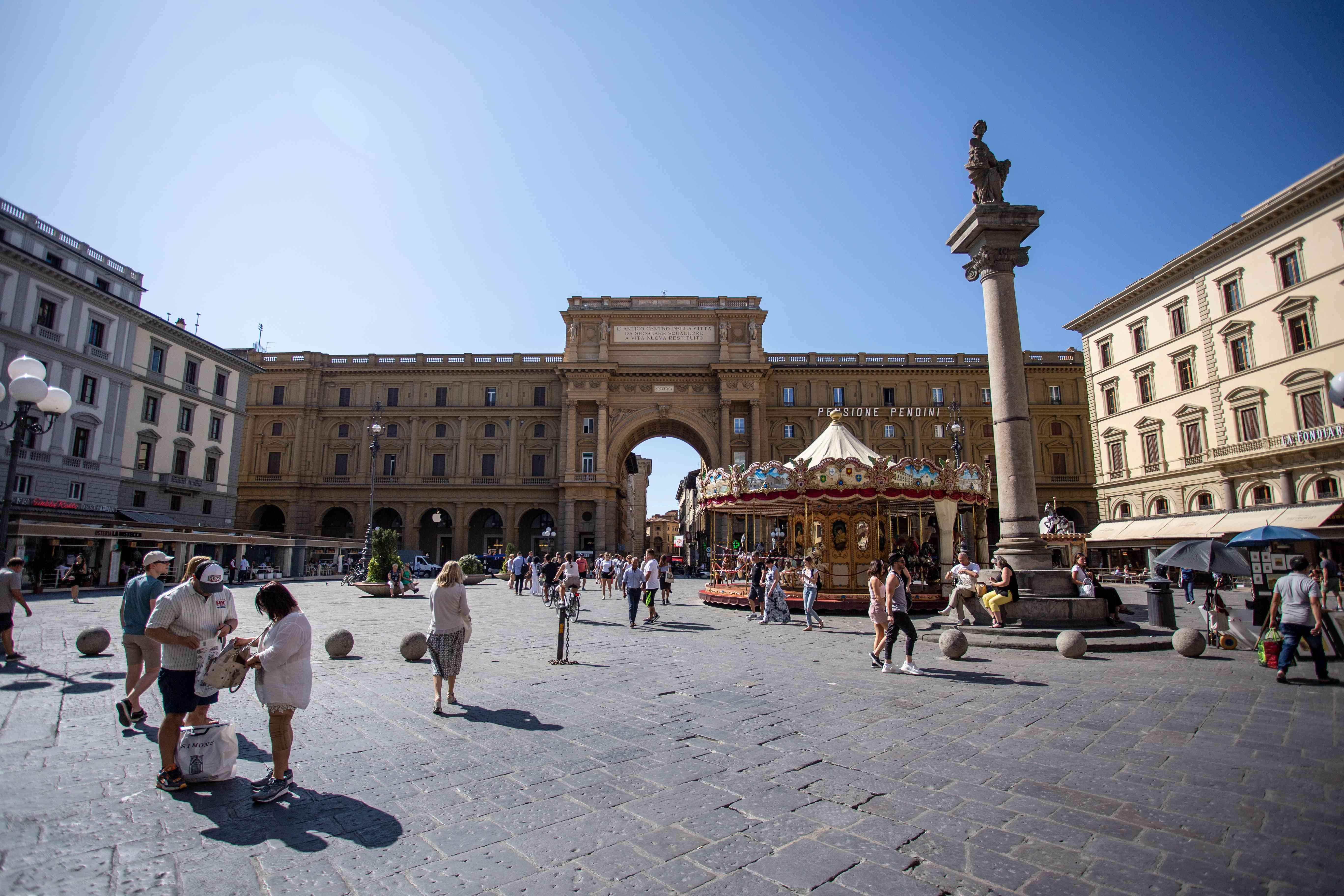 Piazza della Repubblica in Florence, Italy