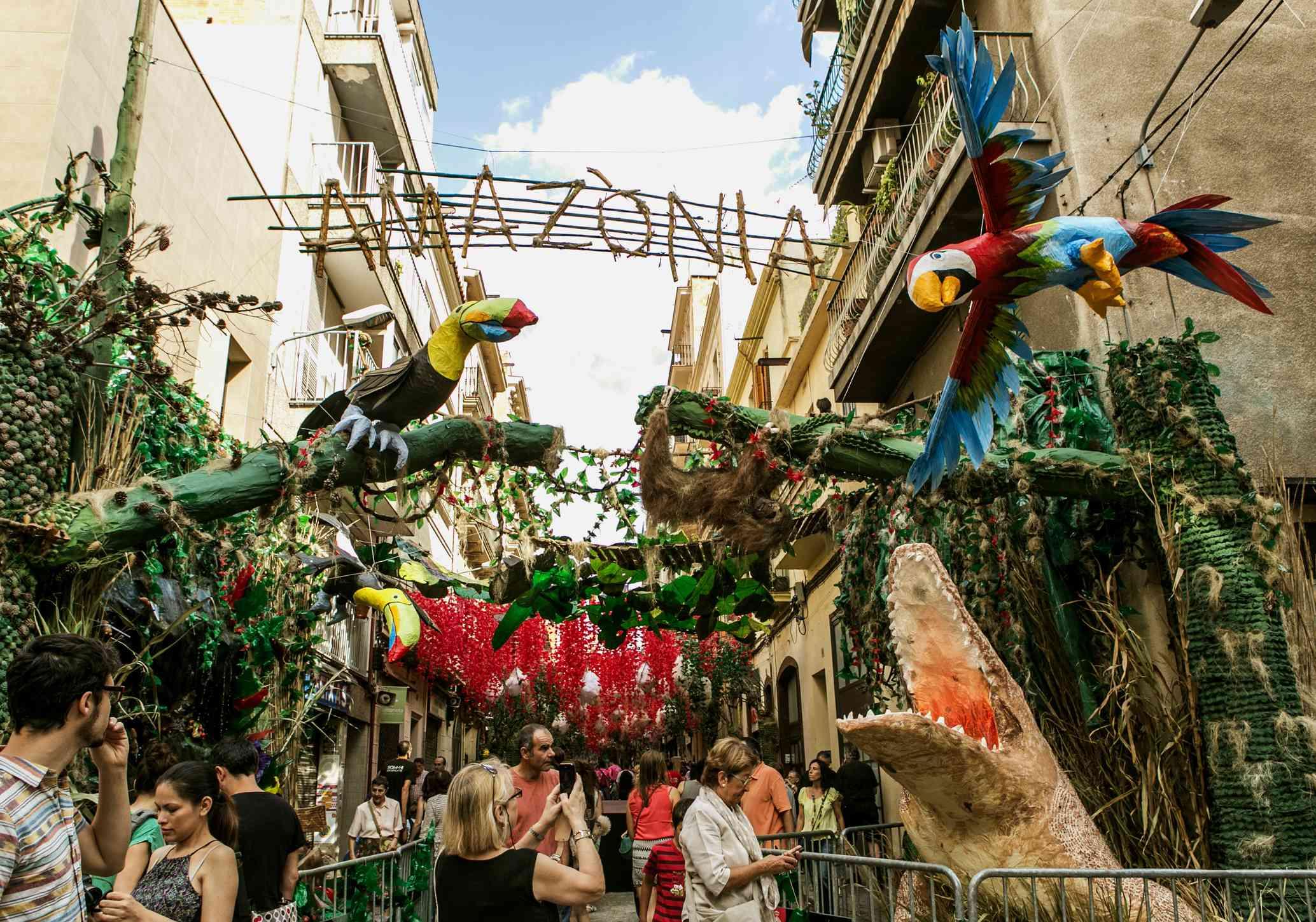 Verdi street decorations Festa Major de Gràcia