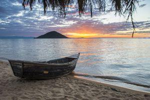Lake Malawi, Malawi at sunset