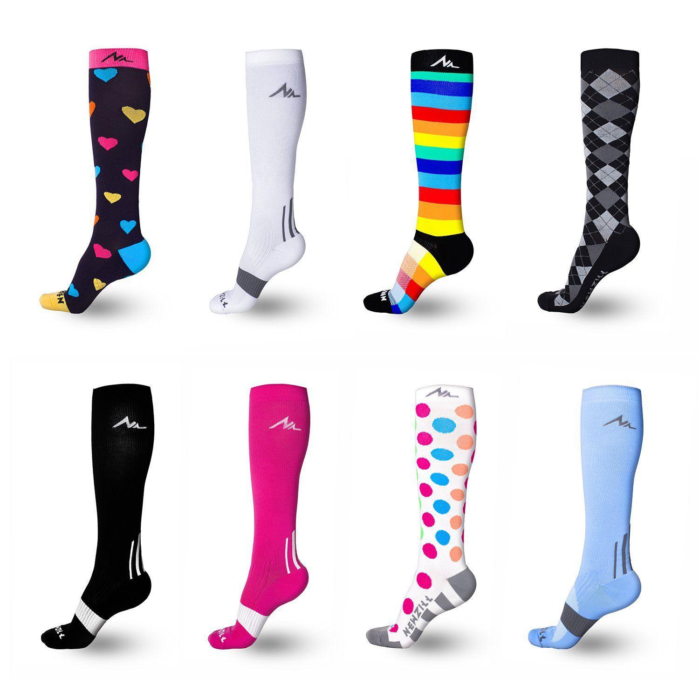 Patterned Compression Socks Simple Design