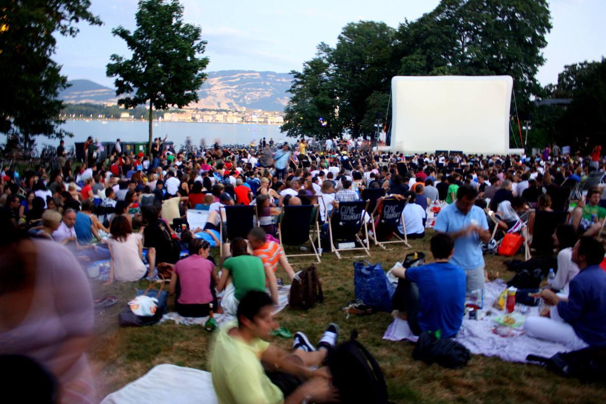 Cine Transat, free cinema by Lake Geneva