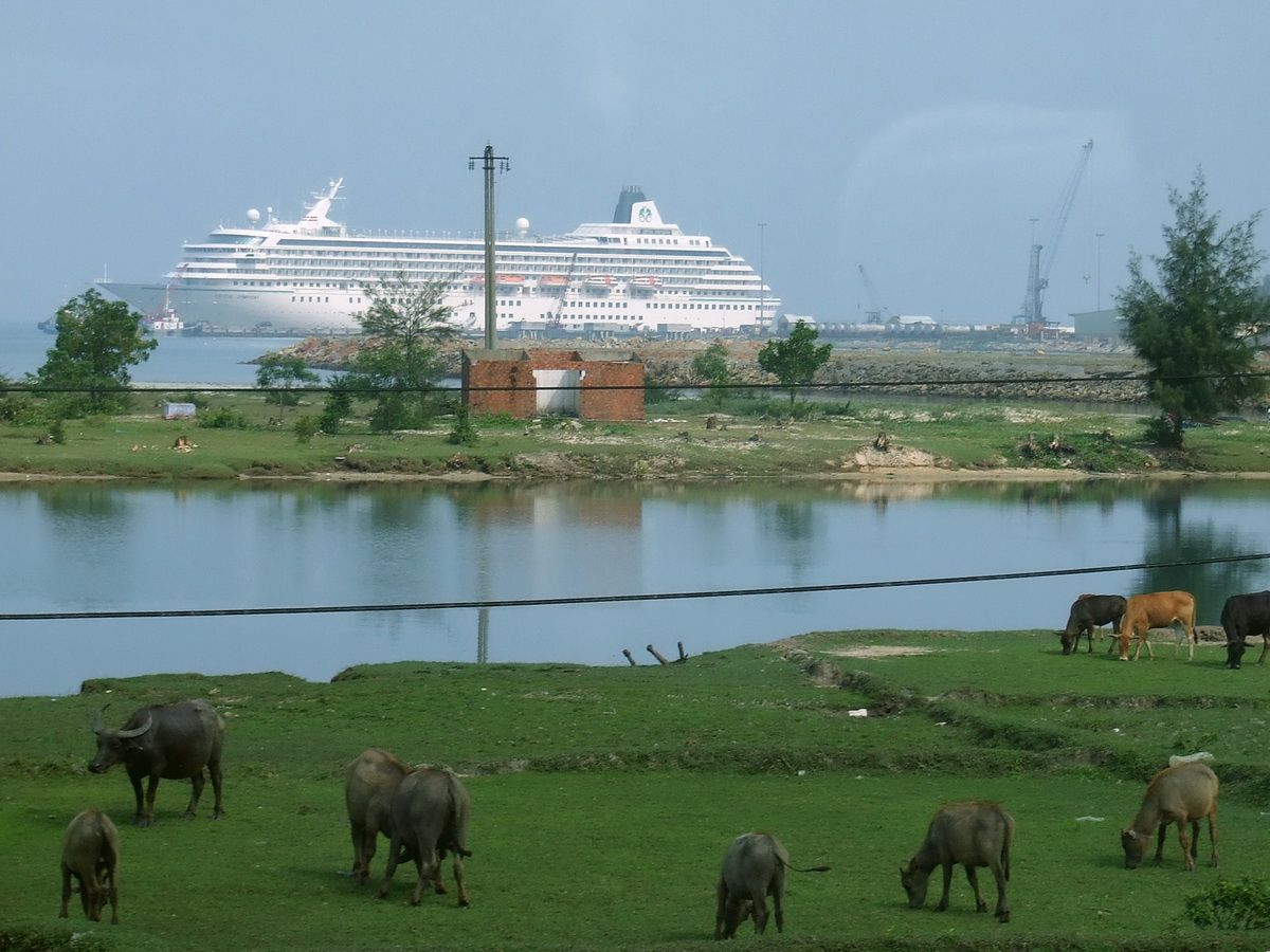 Crystal Symphony at the Dock in Chan May