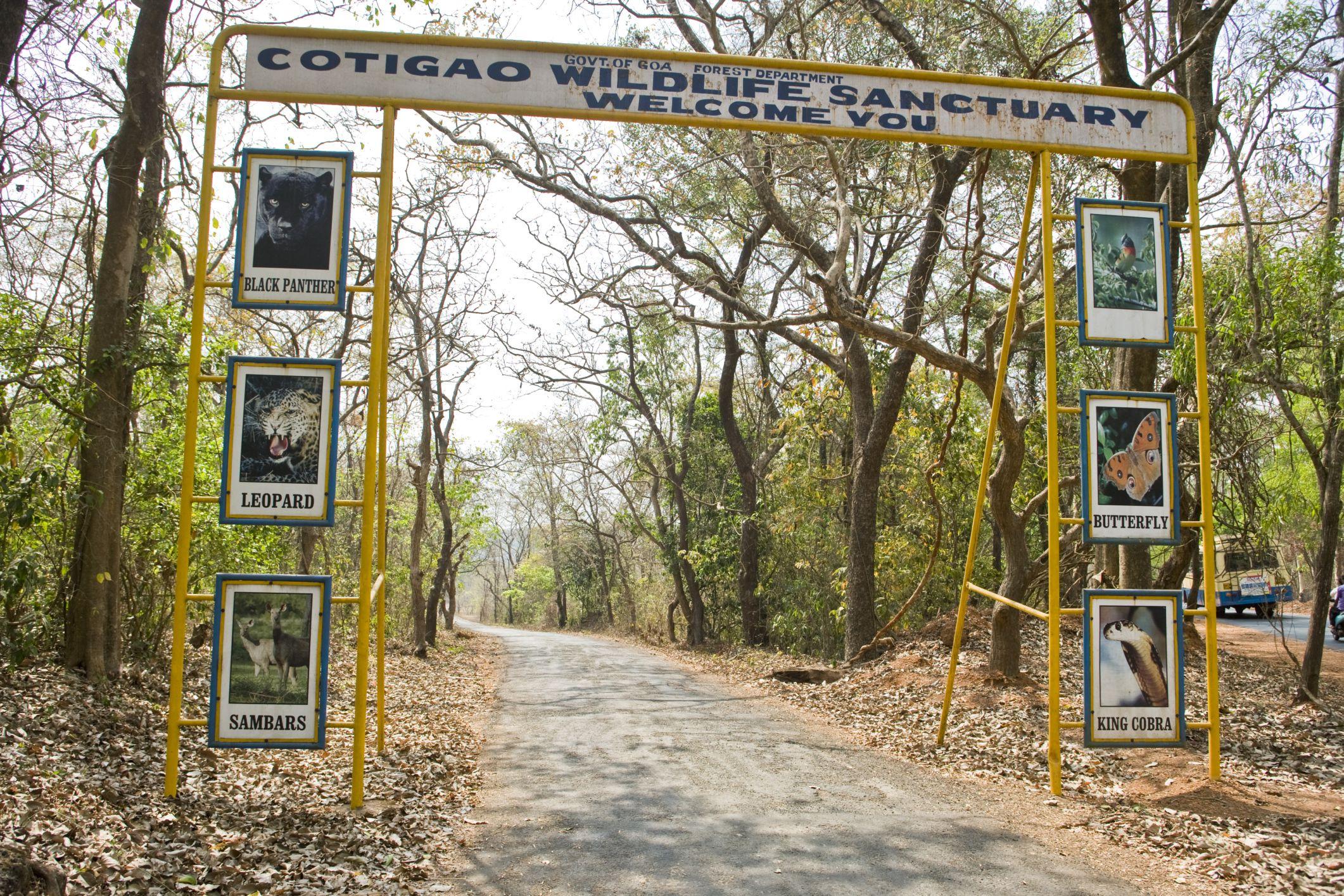 Cotigoa Wildlife Sanctuary entrance