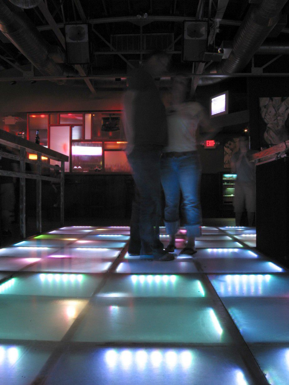 dance floor at Rain on 4th gay club