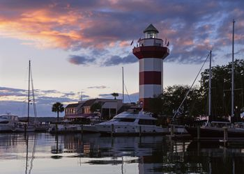 Harbour Town at Sunset in Hilton Head