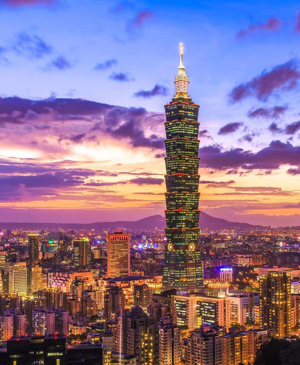 Taipei 101 at night, Taipei, Taiwan