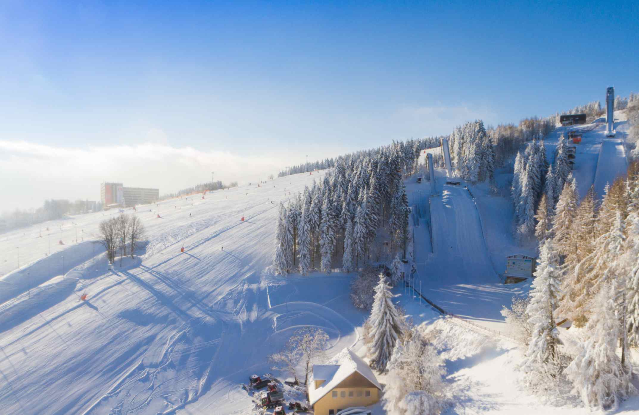 Oberwiesenthal in the Ore Mountains