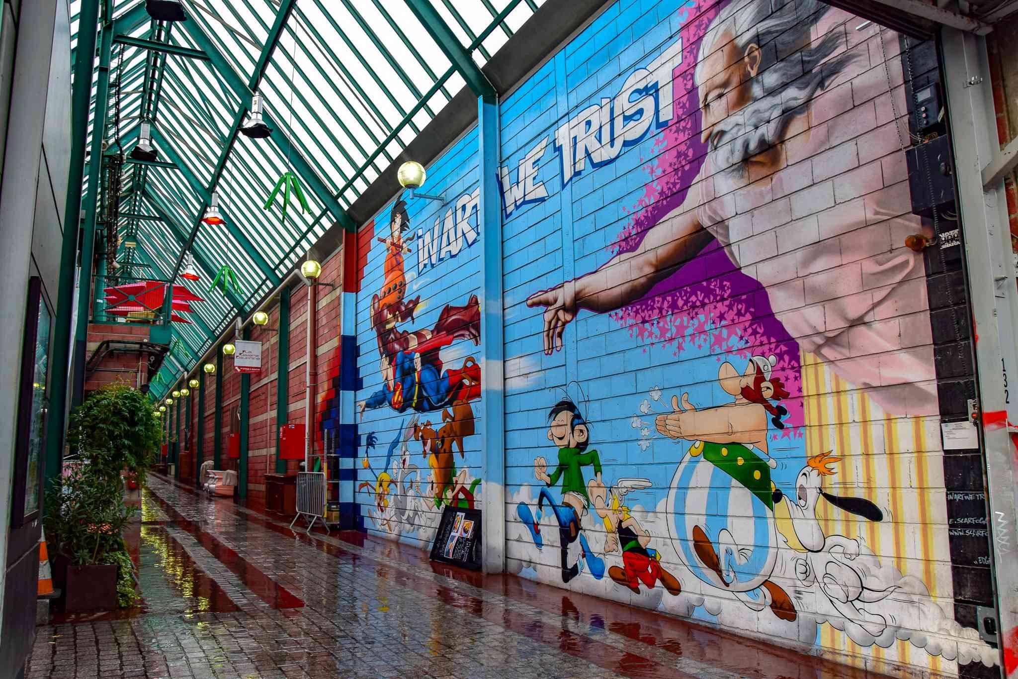 Flea Market area in Paris, France