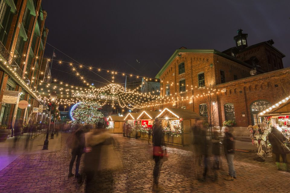 Toronto Christmas market in the Distillery district, Toronto