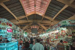 Interior of Ben Thanh Market in Ho Chi Minh City