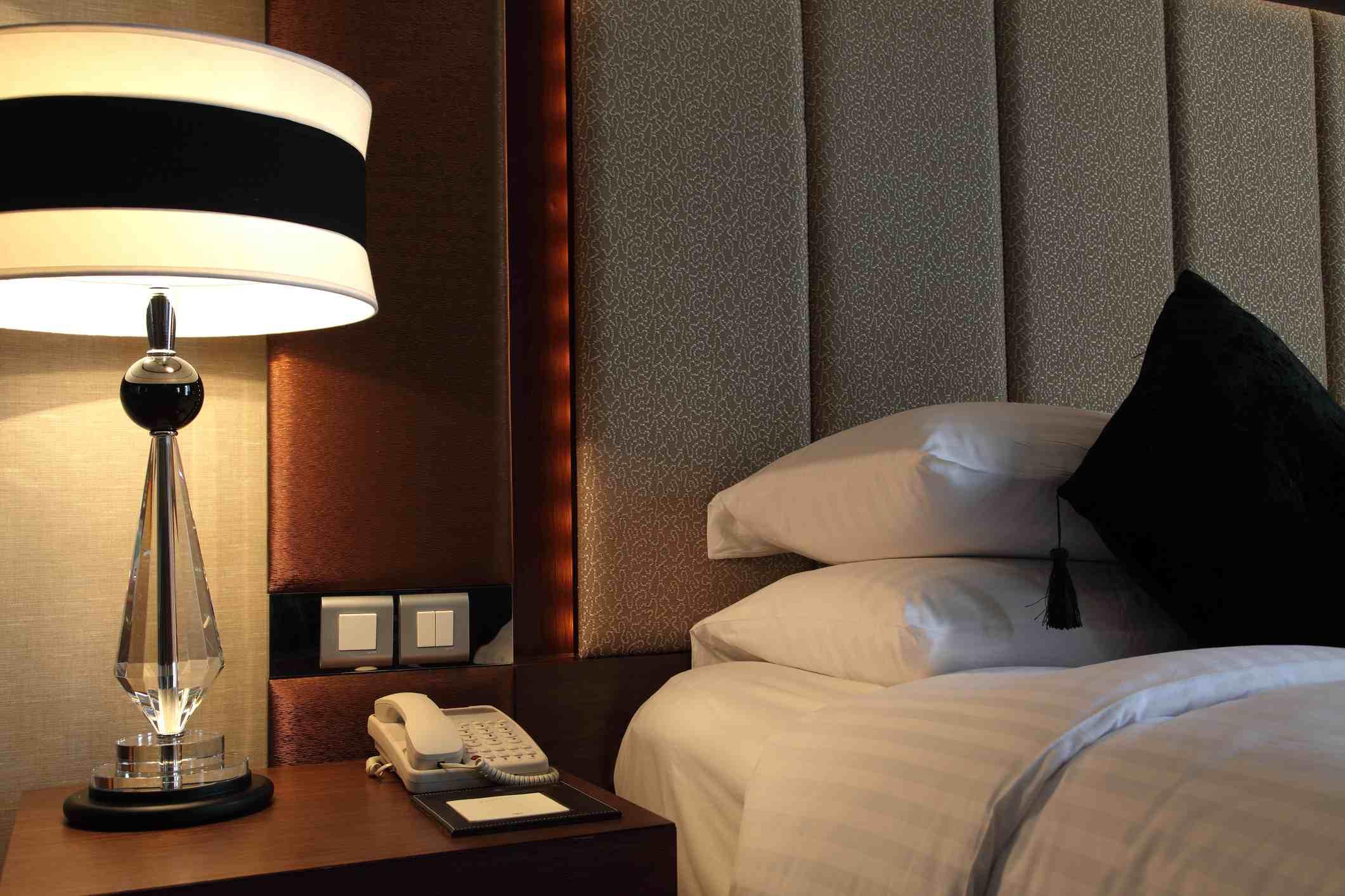 Bedroom setting at Hotel Sofitel Macau.