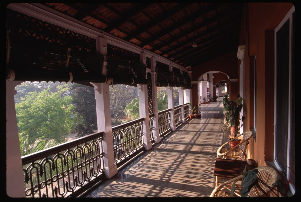 Balcony of Metropole Hotel in Mysore.