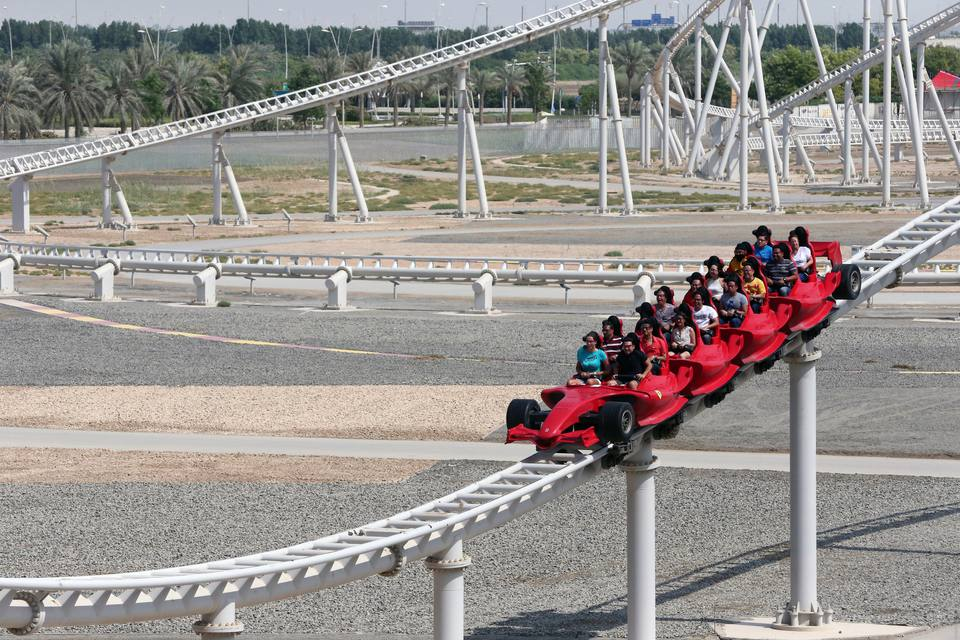 World's fastest Roller coaster at Ferrari World in Abu Dhabi