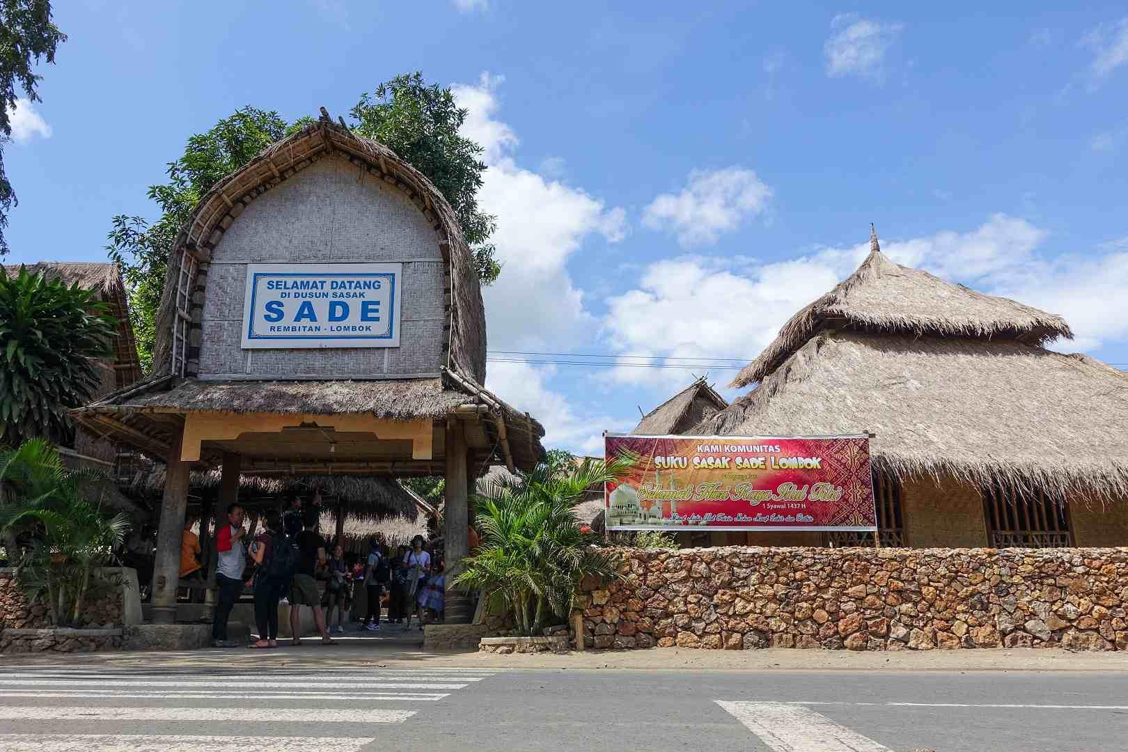 Entryway to Sasak Sade Village, Lombok, Indonesia