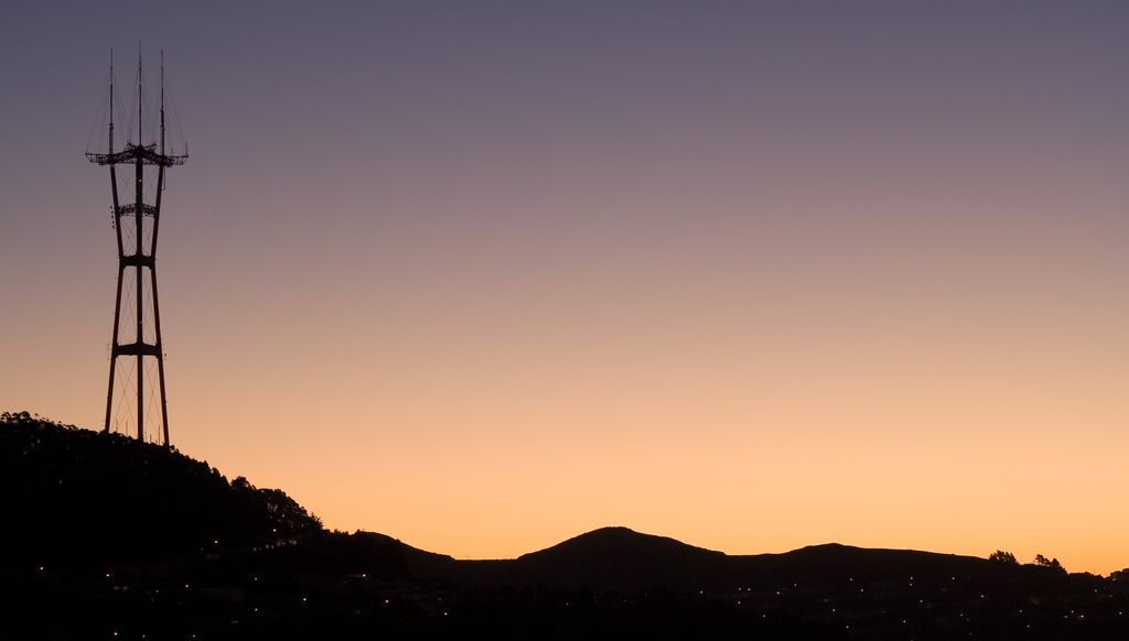 Taken at dawn from Grand View Park, a small hilltop in the Inner Sunset.
