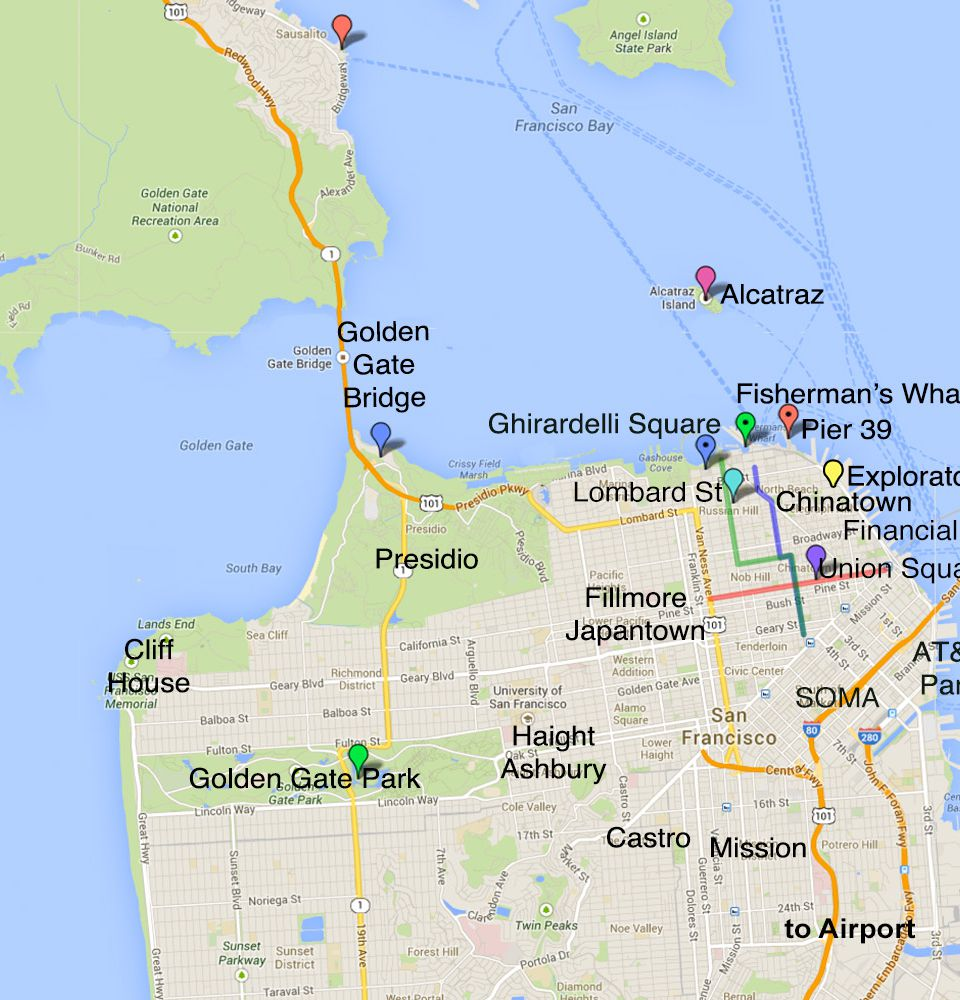 San Francisco Areas and Tourist Attractions