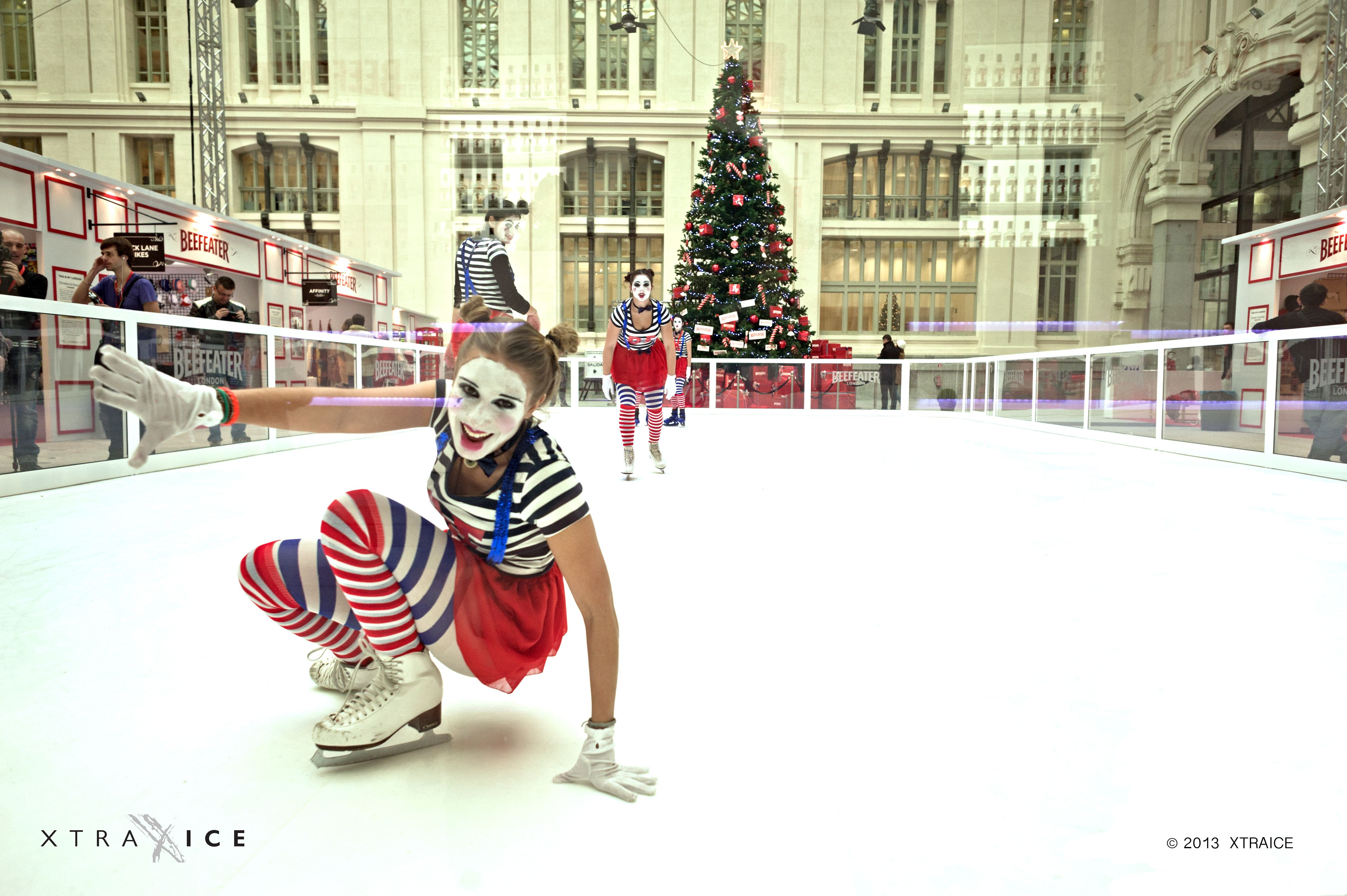 Ice rink in Madrid for Christmas