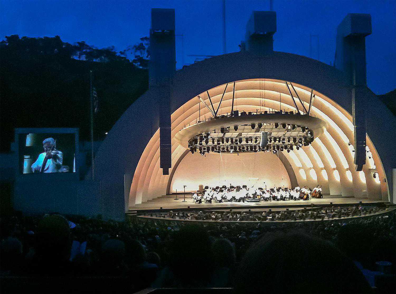 Hollywood Bowl at Night