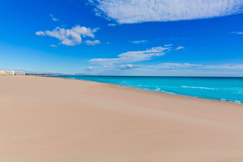 Sagunto beach in Valencia in sunny day in Spain