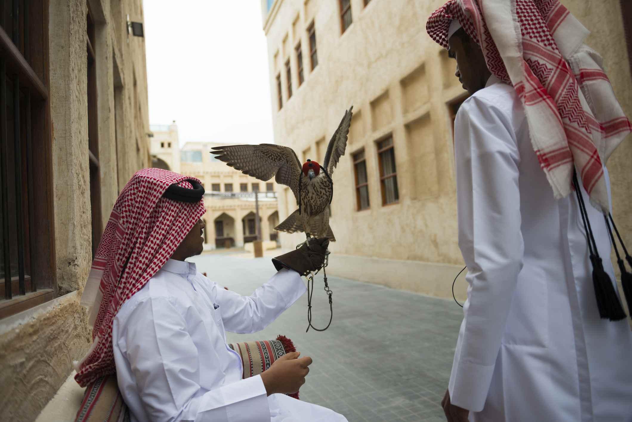 Falcon Souk in Doha, Qatar