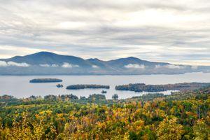 Lake George during fall