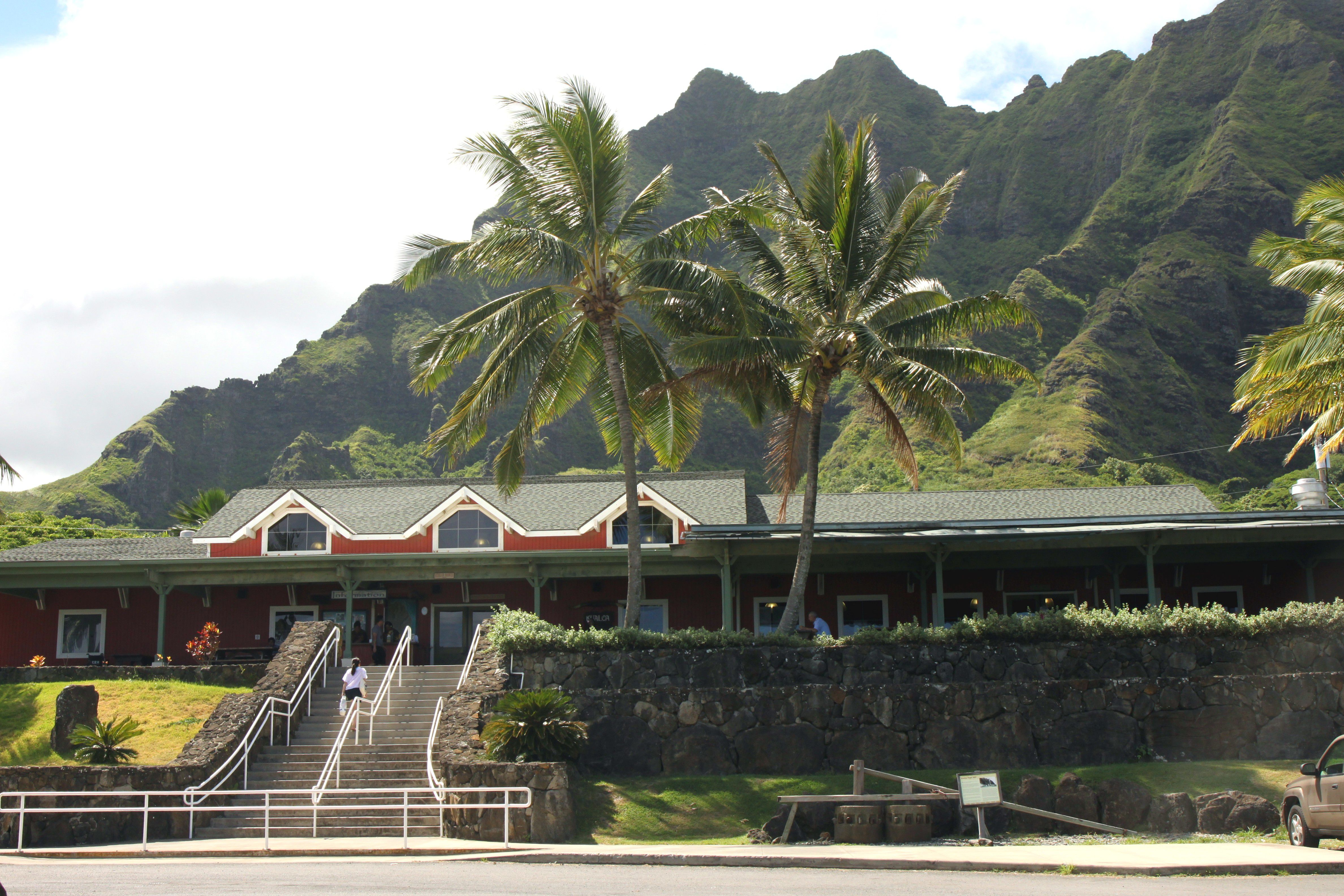 Exterior view of Kualoa Ranch in Oahu, Hawaii.