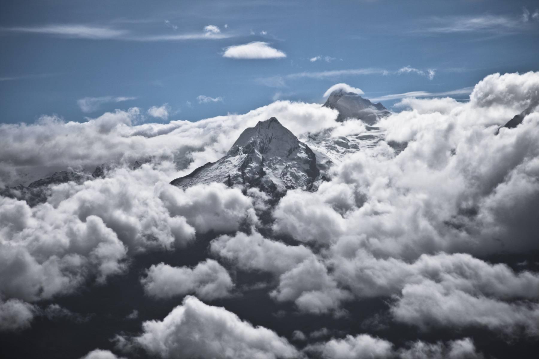 Aerial view of Huascaran National Park