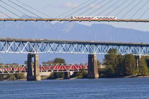 Skytrain Bridge and Patullo Bridge, New Westminster, British Columbia, Canada