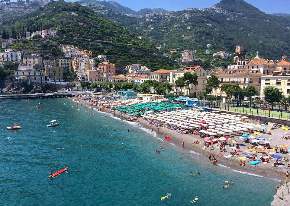 Beach At Minori On The Amalfi Coas
