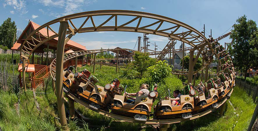 Indianapolis Zoo roller coaster